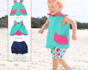 Baby Sewing Pattern PDF pattern, Baby Bloomers Pattern pdf, Baby Pattern, Toddler Pattern, Baby Dress Pattern, Baby Top Pattern, SCANLAN
