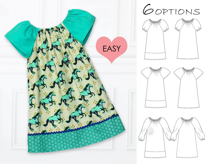 a3ce7f4b9 Girls peasant dress pattern pdf girls dress patterns girls | Etsy