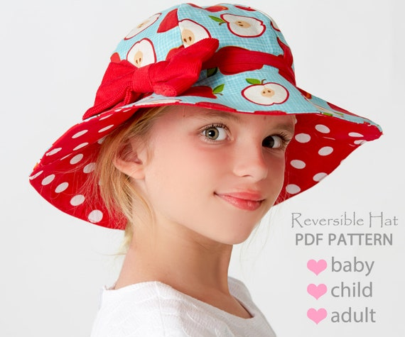 Hat Sewing Pattern Girls Sewing Pattern Pdf Childrens Sewing Etsy