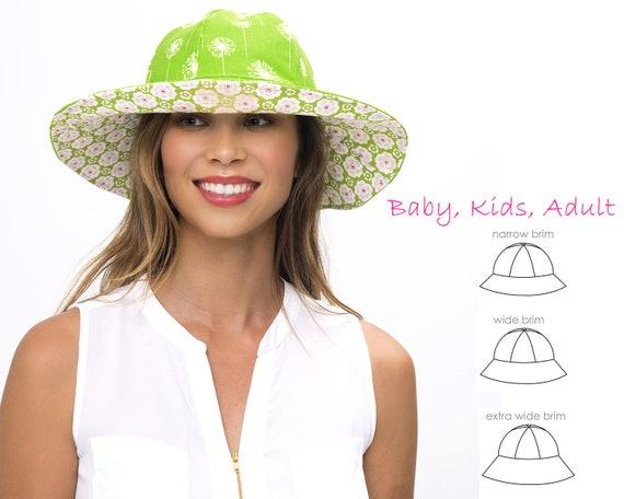 Hat patterns Hat sewing pattern Womens hat pattern Girls  4ad48ee8630