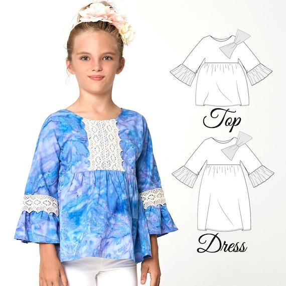 Top Patterns Dress Patterns Girls Dress Pattern PDF Girls | Etsy