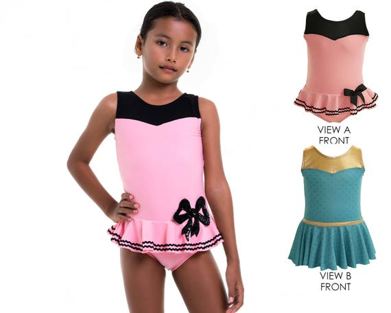 Girls Swimwear Pattern Girls Leotard Pattern Pdf Gymnastics Etsy
