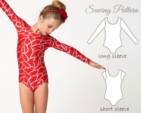 Gymnastics Leotard Girls Pattern Pdf Leotard Sewing Pattern Etsy