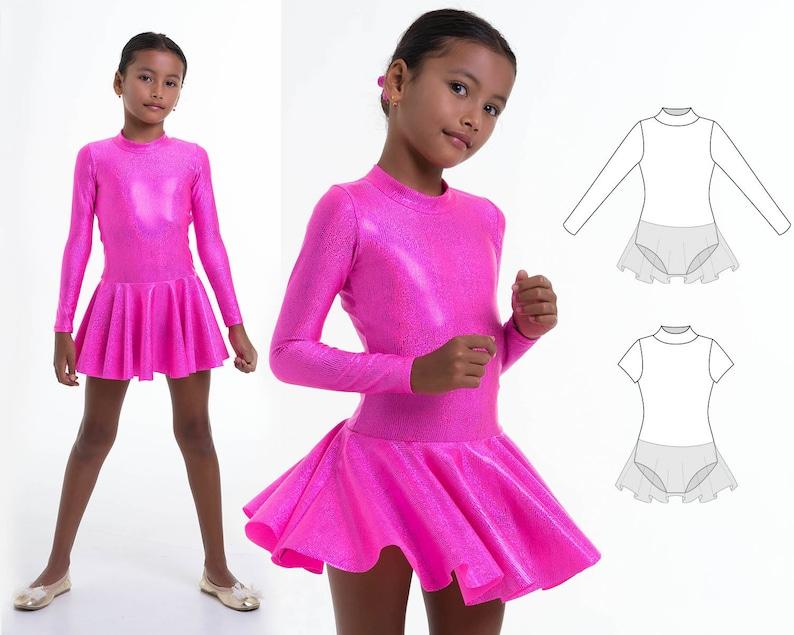 3ec8919fd Girls leotard pattern PDF ballet leotard pattern gymnastics   Etsy