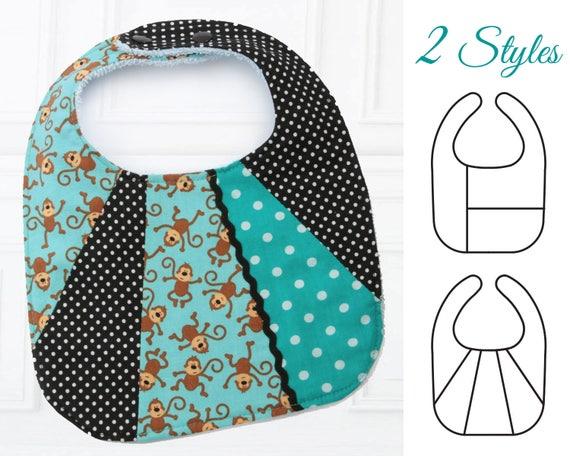 Bib Pattern, baby bibs pattern, Baby sewing pattern, Baby Bib ...