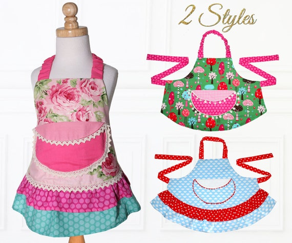 Apron Pattern Apron Sewing Pattern Kids Apron Pattern Child Etsy Beauteous Apron Sewing Pattern