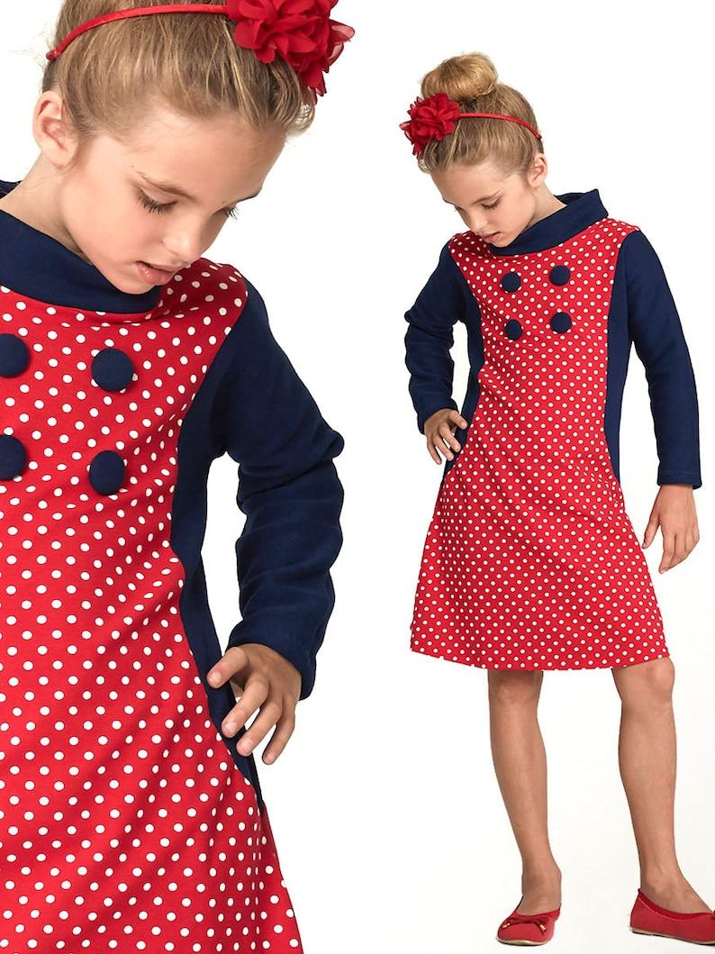 Girls Dress Pattern PDF Childrens Sewing Pattern pdf Tshirt  0f7dcfdba