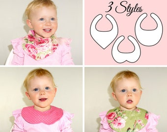 Baby Bib pattern, Baby sewing pattern PDF, Bandana bib pattern, Infant Children Newborn Toddler, bib patterns, bib pattern, DROOL BIBS