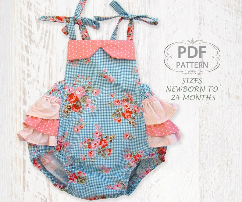 7c72301f4 Baby sewing pattern for romper PDF Sewing pattern for baby