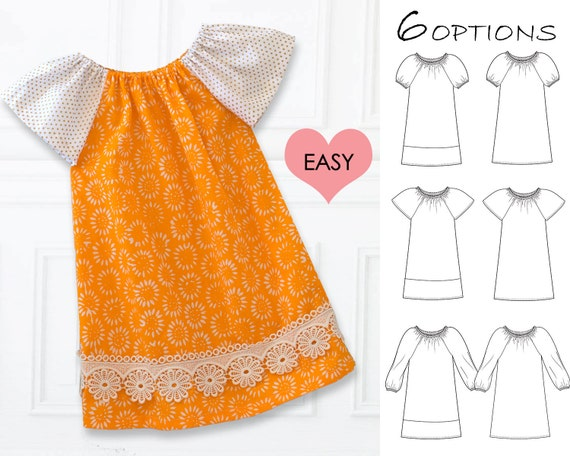 Easy Baby Dress Pattern Pdf Baby Sewing Pattern Baby Peasant Etsy