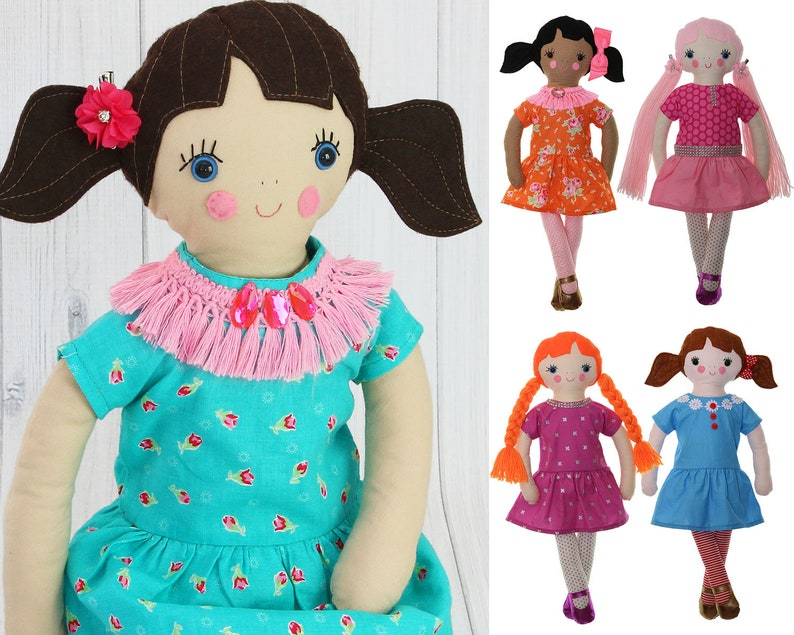 Rag Doll Pattern Doll Sewing Pattern Softie Pattern  94cf0888a