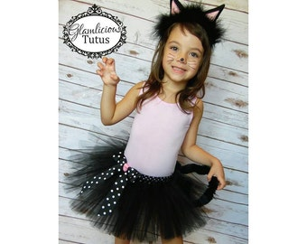 Black cat tutu set  Kitty tutu costume   Newborn- Adult XXXL Listing