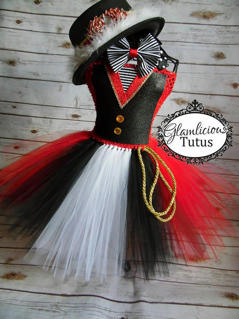 Ringmaster Tutu dress Costume | Ringmaster costume | Halloween Costume| Newborn- Tween listing