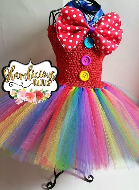Clown Tutu Kleid Kostüm Clown-Kostüm Halloween-Kostüm | Etsy