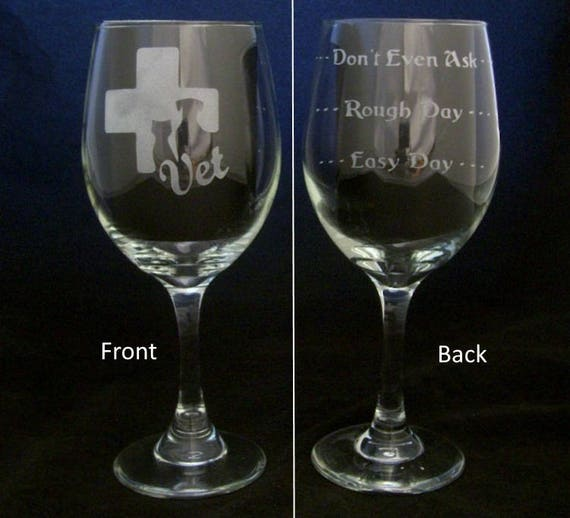 Veterinarian Vet Good Day Bad Day Wine Glass Valentines Day Etsy