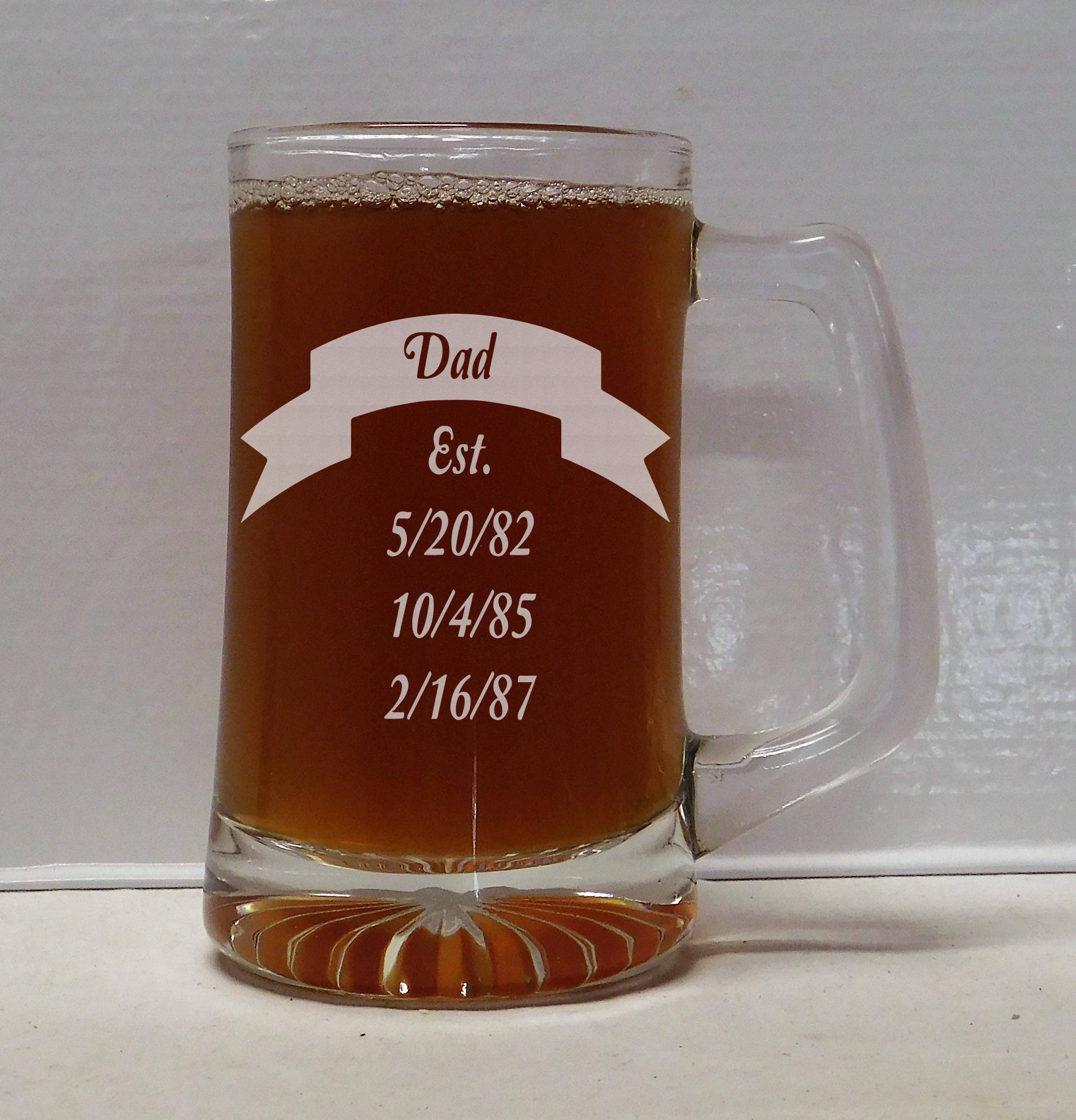 Dad Est Beer Mug Christmas gifts Dad gifts Dad birthday | Etsy