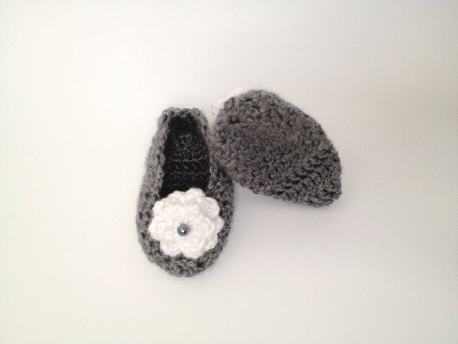 classy sassy slipper (made to match any outfit) crochet knit baby socks shoes ballet flat floral bead variety of color options