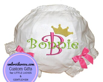 Large Crown Bloomer + Diaper Cover