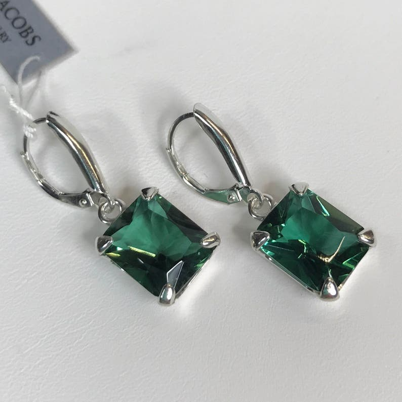 81c191e3d GORGEOUS 14ctw Green Amethyst Prasiolite Earrings Sterling | Etsy