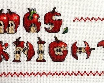 Fancy Apples alphabet - Cross Stitch Pattern