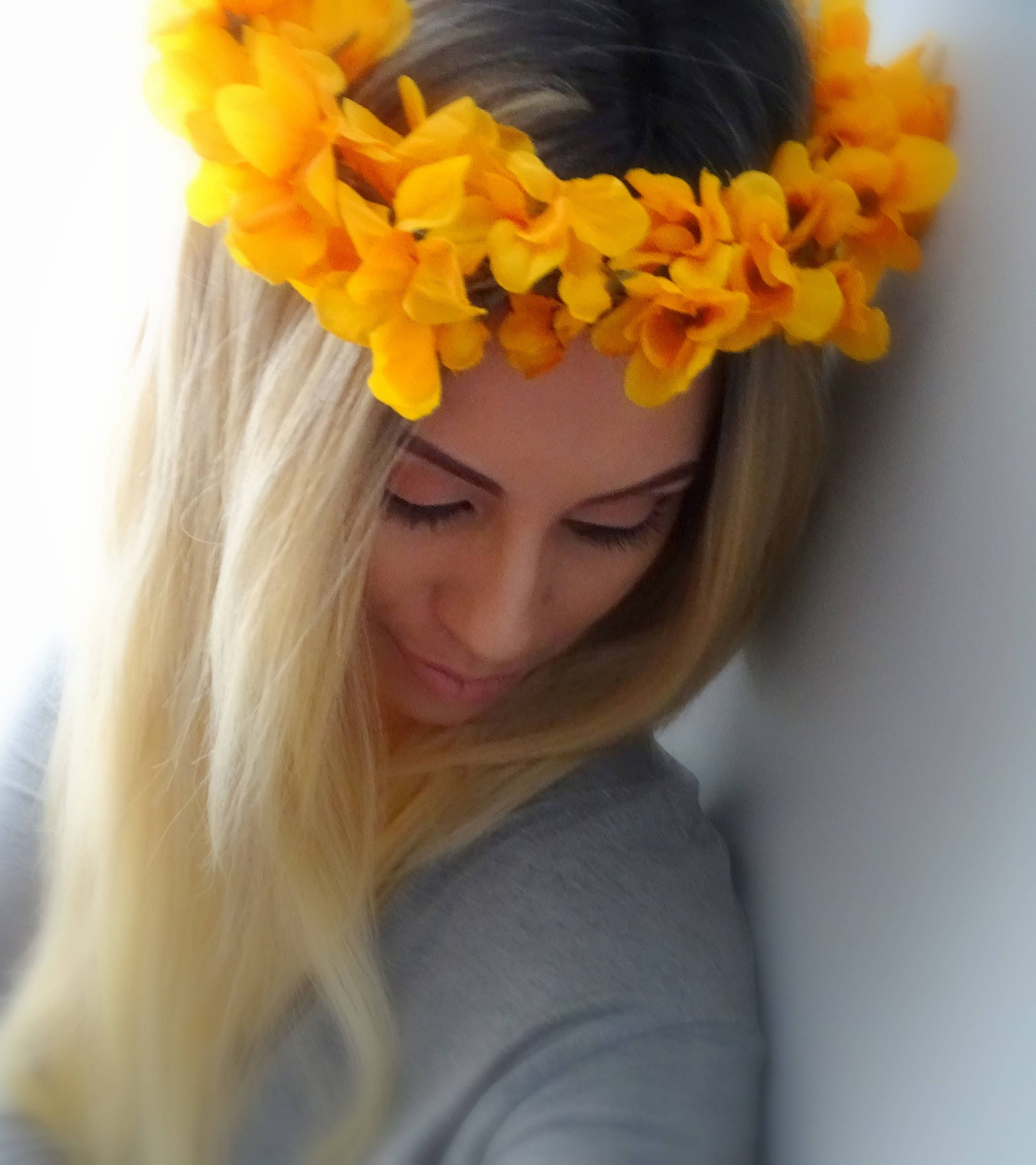 Autumn Flower Crown Fall Flower Crown Floral Crown Flower Etsy