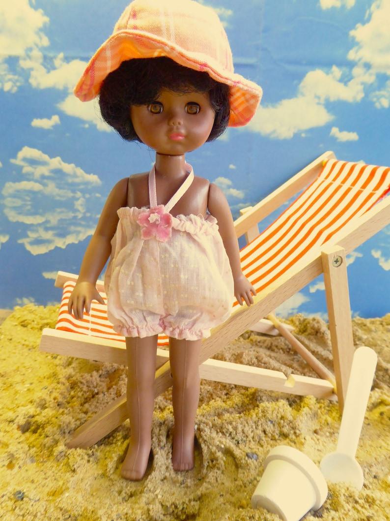 Amanda Jane Alexander vintage doll swimsuit or sunsuit - a delight for most 7-8in/16-20m dolls  like amanda jane, ginny, lottie, mme alexander, mini american girl