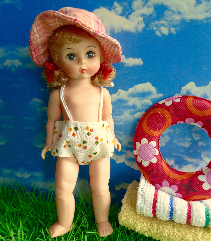 Amanda Jane Alexander vintage toddler doll swimsuit or sunsuit - charming on 7-8in/16-19cm dolls  such as amanda jane or madame alexander