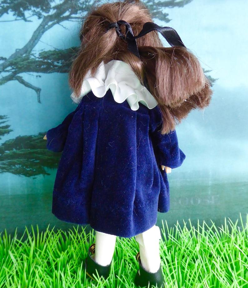Vintage VELVETEEN DOLL COAT Penny Brite Kripplebush Kids Riley Kish handmade for 8in18cm dolls like Ginny