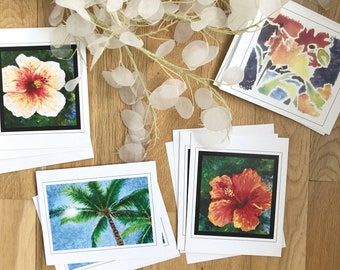 Set of 8 Note Cards - Tropical Series