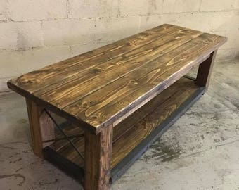 Outdoor Coffee Table Etsy - Reclaimed wood outdoor coffee table