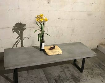 Concrete Dining Table Etsy - Concrete dining table for sale