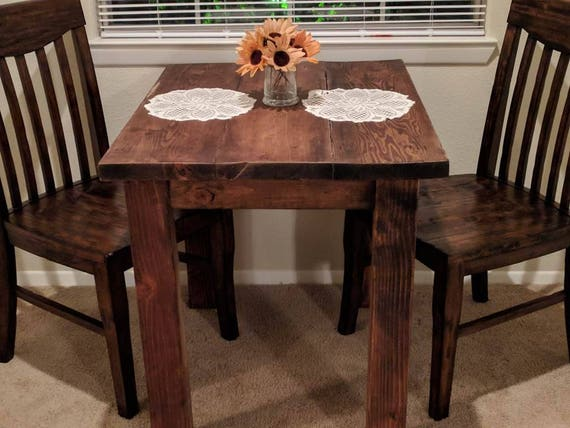 Wooden Kitchen/Dining Table - Pub Style Rustic, Made From Reclaimed Wood