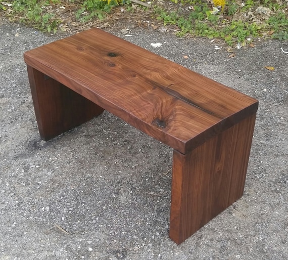 Black Walnut Contemporary Style Bench Etsy