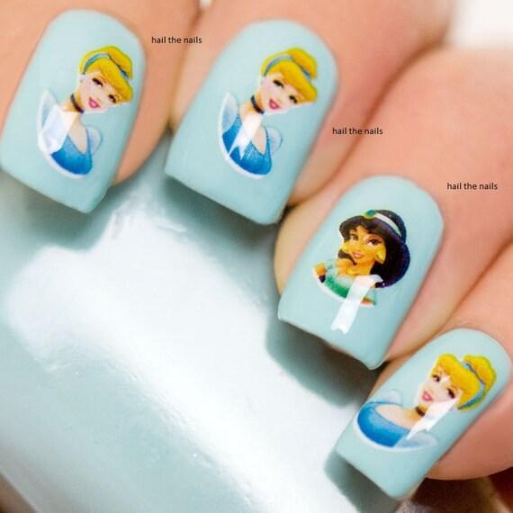 Cinderella Nail Wraps Fairy Princess Jasmin Belle Snow White Etsy