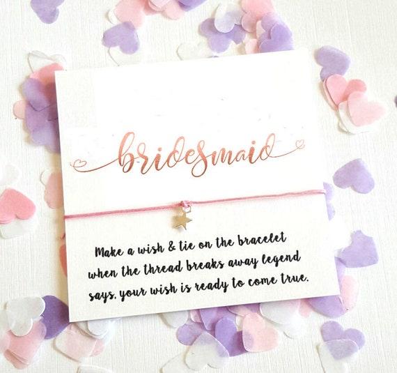 WISH BRACELET BRIDE TO BE HEN PARTY SILVER HEART DIAMANTE CHARM HANDMADE