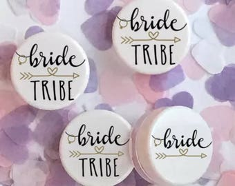 Bride Tribe Pink Lip Balm Gloss Hen Party Wedding Favours UK Made #122