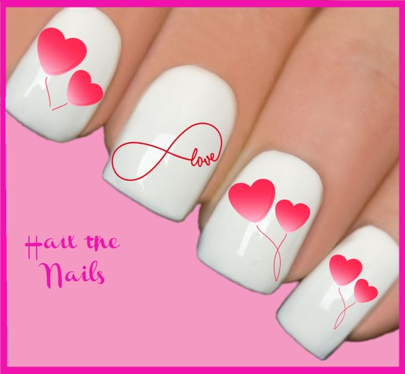 Nails Nail Art Water Transfers Decals Wraps Infinity Love Etsy