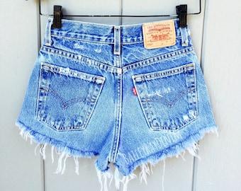 3b801db814 ALL SIZES Women Levi High Waisted Denim Shorts - Vinatge - small medium  large extra large extra extra large
