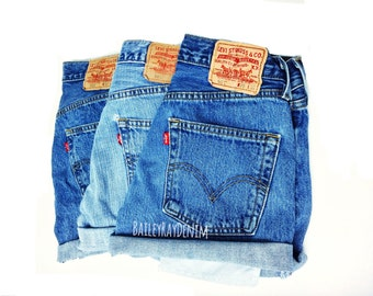 4fc88150 Vintage Levis Shorts High Waisted Denim Shorts Jeans Back to School / xs s  m l xl xxl