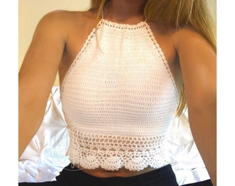 0890a5345e509 Crochet crop top
