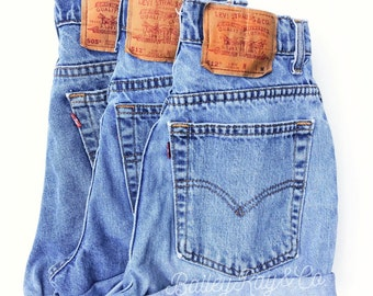 Vintage Levis high waisted Denim Shorts All Sizes b18d6b9dc68a