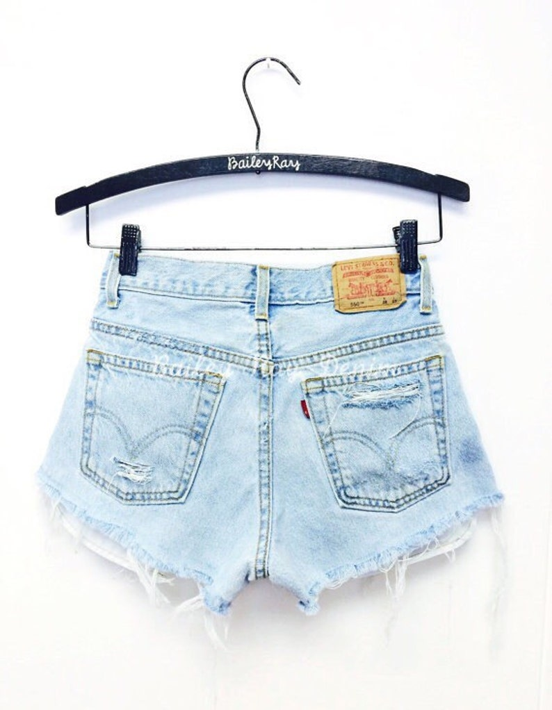 6f528665d2b Levis High Waisted Shorts Distressed Destroyed Cheeky