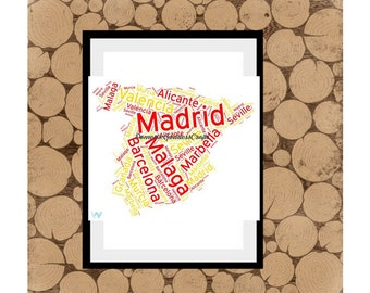 Map of france word art personalised map of france map word etsy map of spain word art personalised map of spain map word art map word collage spanish word art personalised spanish map map of spain gumiabroncs Images