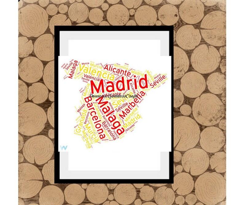Football Map Of Spain.Map Of Spain Word Art Personalised Map Of Spain Map Word Art Map Word Collage Spanish Word Art Personalised Spanish Map Map Of Spain