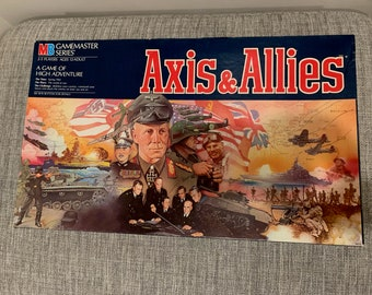 Vintage Axis and Allies Game 1987 Edition