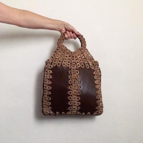 70s hippie purse vintage 1970s boho bag leather 70