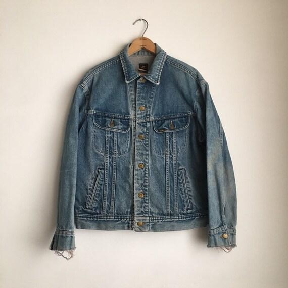distressed trucker jacket 70s denim jacket vintag… - image 5