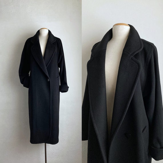 black 80s oversized coat womens 80s coats vintage