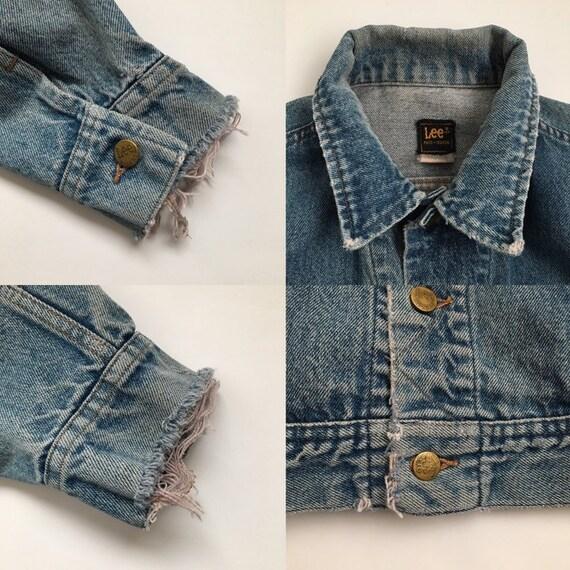 distressed trucker jacket 70s denim jacket vintag… - image 9