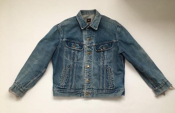 distressed trucker jacket 70s denim jacket vintag… - image 4